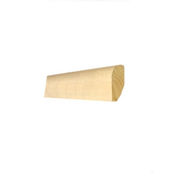 Lišta masívna drevená dubová 40x20 mm na obklad schodov, primorená, lakovaná