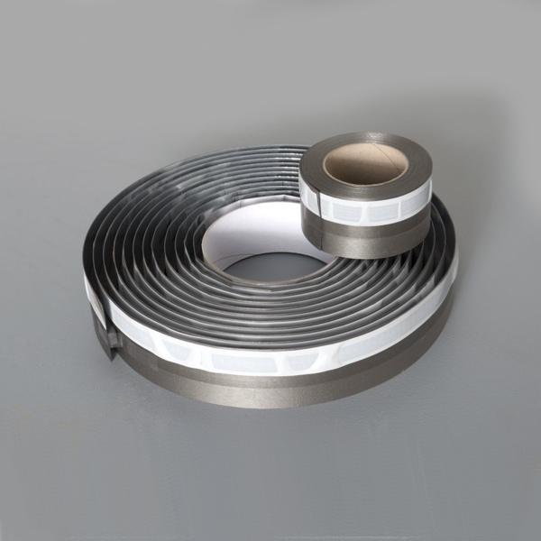Vymedzovacia a tesniaca páska Egger AQUA+ TAPE, ALU/antracit 0,7/10x75 mm x 20 m
