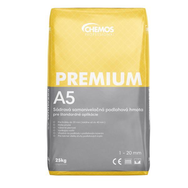Samonivelačná podlahová hmota CHEMOS Premium A5 sadrová 25 kg