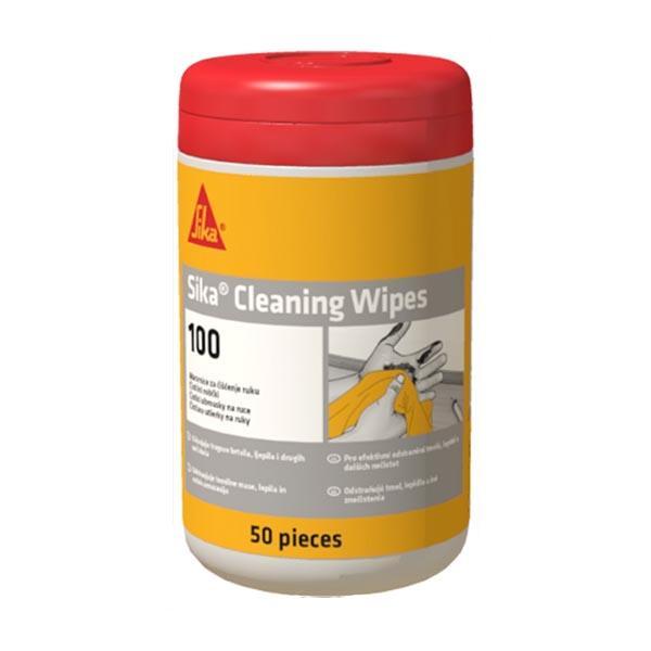 Utierky Sika Cleaning Wipes-100 vlhčené, 50 ks/bal, na čistenie zvyškov lepidla/tmelu