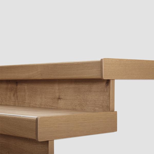 Lišty bočné krycie k schodu Egger PRO Dub Waltham prírodný EPL122 (masívne drevo - 1 ks 68x500x12 mm + 1 ks 20x200 mm)