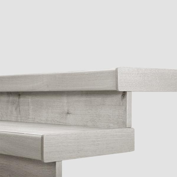 Lišty bočné krycie k schodu Egger PRO Dub Waltham biely EPL123 (masívne drevo - 1 ks 68x500x12 mm + 1 ks 20x200 mm)