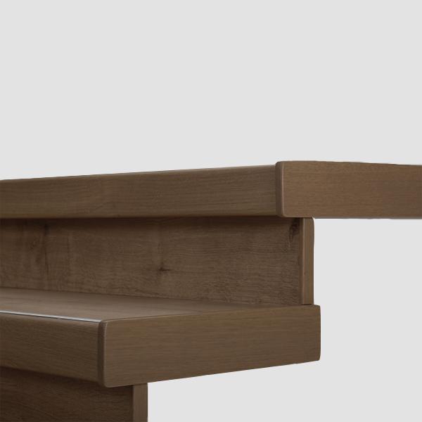 Lišty bočné krycie k schodu Egger PRO Dub Waltham hnedý EPL125 (masívne drevo - 1 ks 68x500x12 mm + 1 ks 20x200 mm)