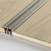 Transition profile in aluminium for engineered wood flooring Stainless steel, floor coverings 8–18 mm, solid steel, 1739875, 1000x45x0 mm - Sortiment |  Solídne parkety